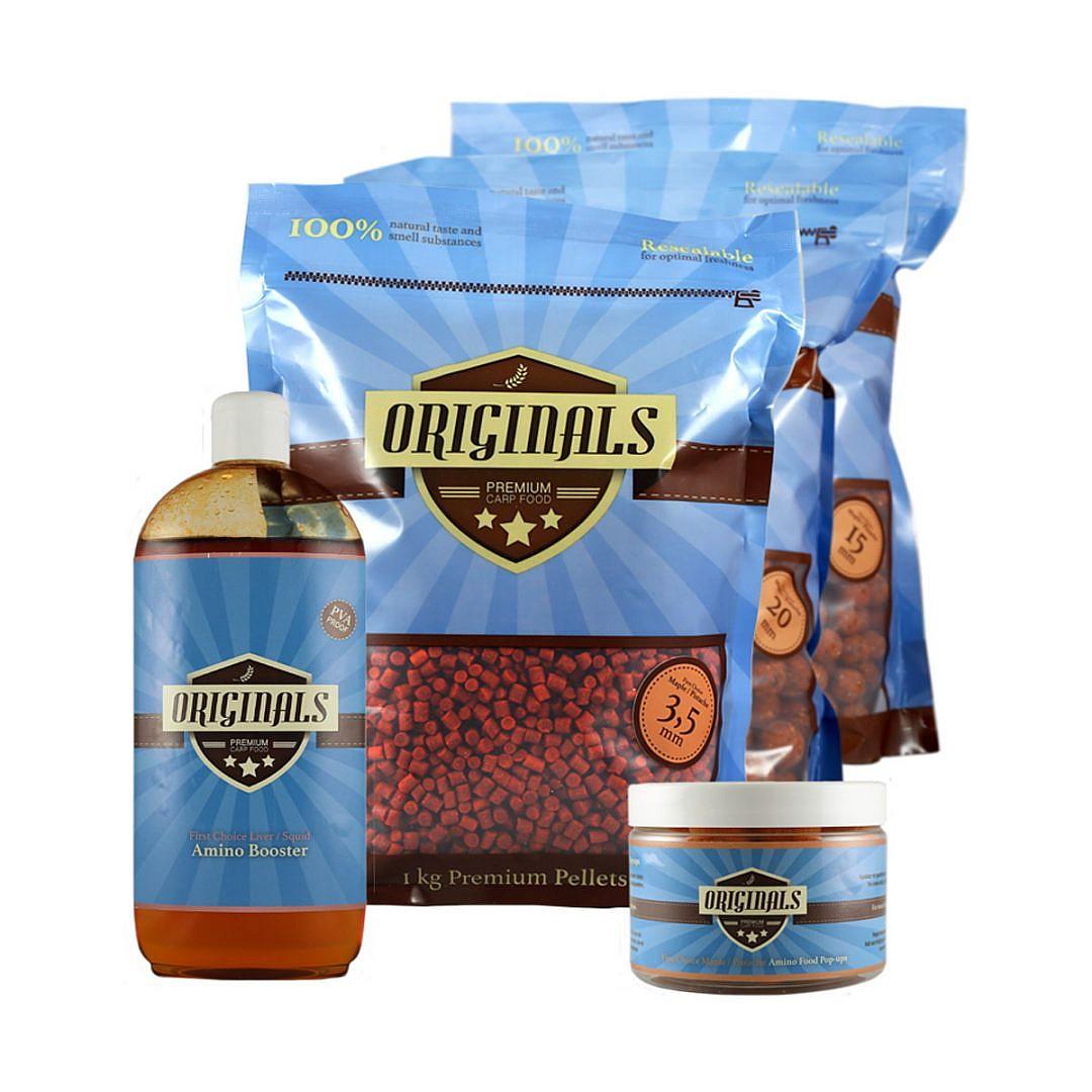 Originals-Premium Carp Food First Choice Maple Pistache Package Deal