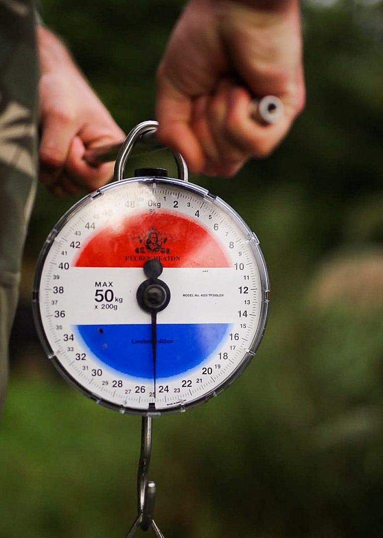 Wat een gewicht, en dat voor een Nederlandse vis!