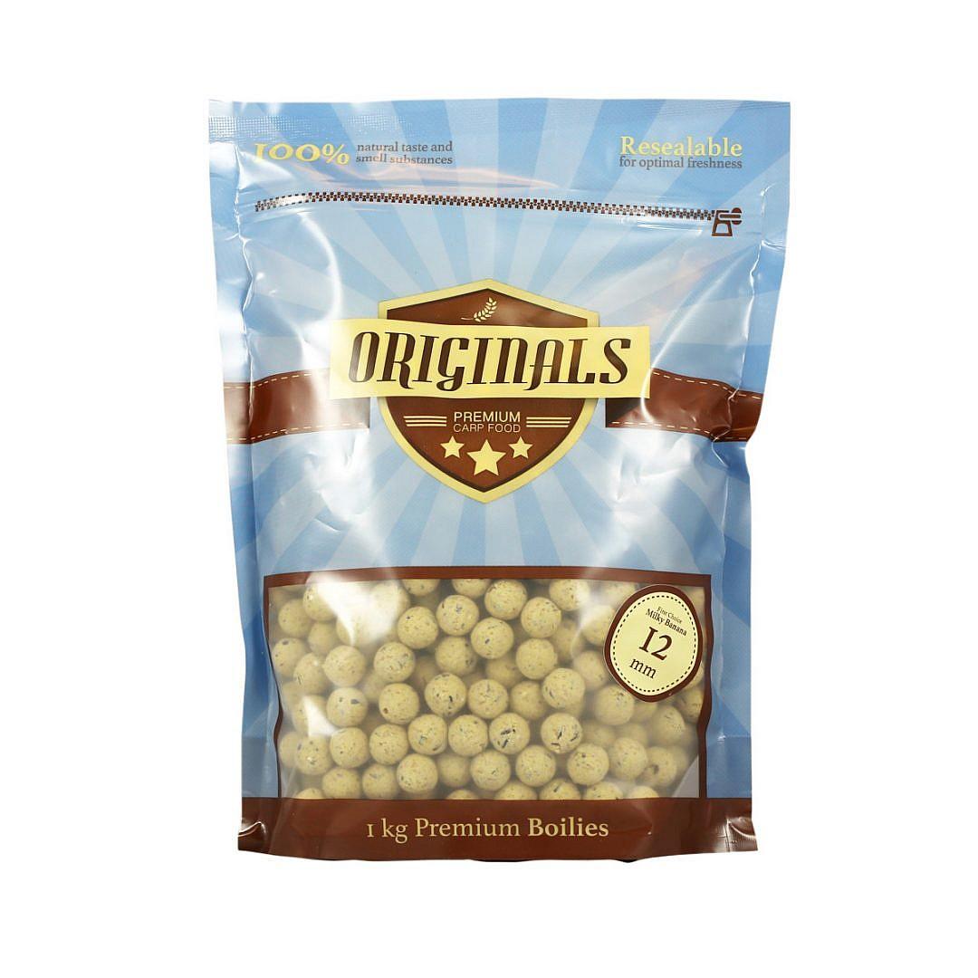 Originals-Premium Carp Food First Choice Milky Banana boilies 12mm
