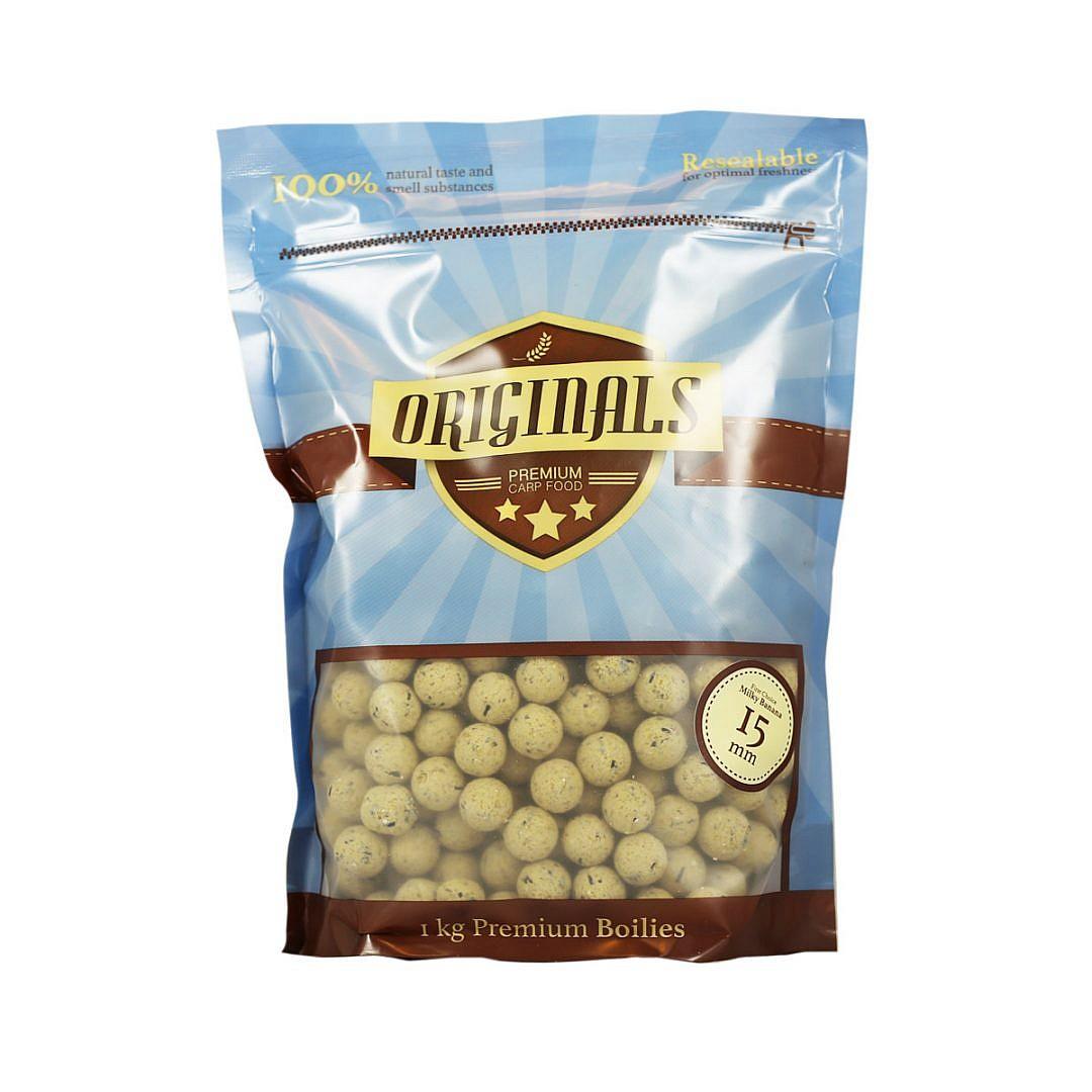 Originals Premium Carp Food First Choice Milky Banana boilies 15mm