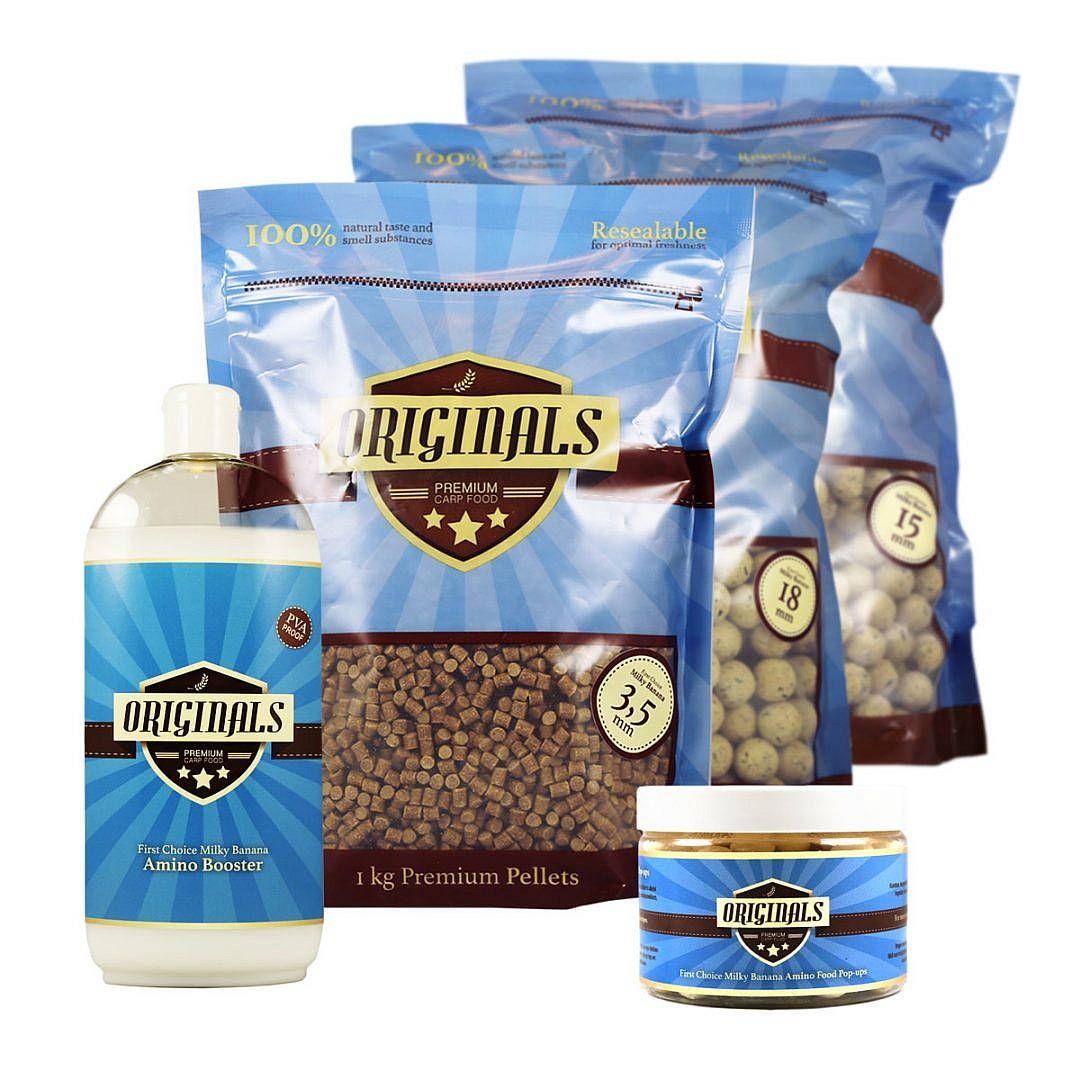 Originals Premium Carp Food Milky banana package deal