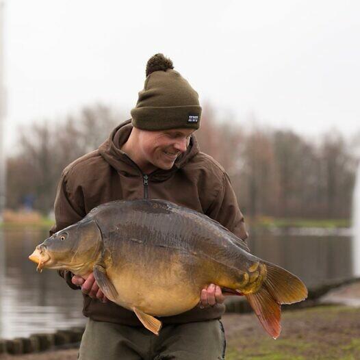Met een milde winter als deze kan je nog prima mooie vissen vangen!