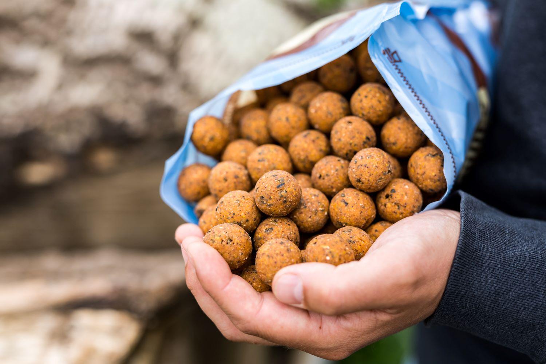 25mm Krill Caramel boilies zijn een zekerheidje tijdens elke buitenlandse trip